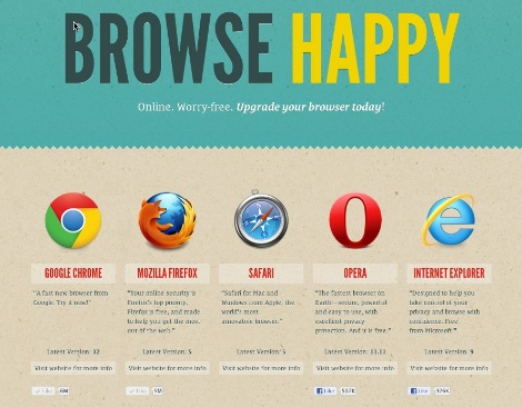 WordPress Browse Happy Campaign
