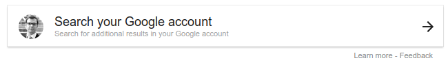 New option to search yur google account in Google search.